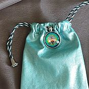 Baggie handmade. Livemaster - original item Leather pouch for runes or Tarot cards. Handmade.