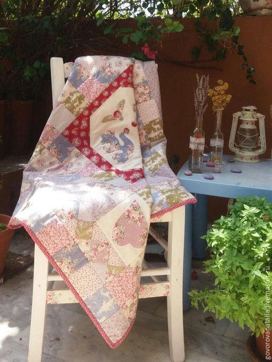 Пледы и одеяла ручной работы. Ярмарка Мастеров - ручная работа. Купить Лоскутное покрывало Птицы счастья. Handmade. Лоскутное шитье