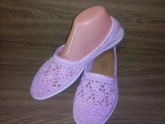Обувь ручной работы. Ярмарка Мастеров - ручная работа. Купить Балетки Нежно Розовый. Handmade. Балетки, обувь, Балетки на заказ