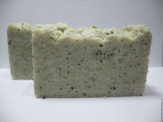 Мыло ручной работы. Ярмарка Мастеров - ручная работа. Купить Мыло с нуля натуральное Детокс с мятой, солью и спирулиной. Handmade.
