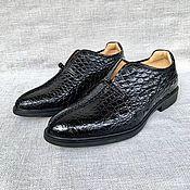 Обувь ручной работы handmade. Livemaster - original item Men`s shoes made of genuine alligator leather, designer model.. Handmade.