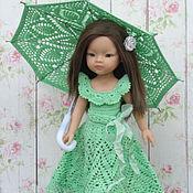 Куклы и игрушки ручной работы. Ярмарка Мастеров - ручная работа Платье + зонтик для кукол Паола Рейна. Handmade.