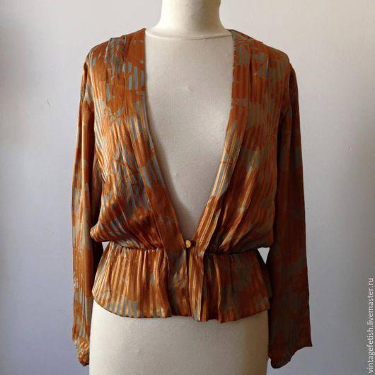 Одежда. Ярмарка Мастеров - ручная работа. Купить Винтажная романтическая блузка. Handmade. Золотой, винтажная блузка, романтическая блузка, полиэстер