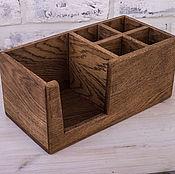 Для дома и интерьера handmade. Livemaster - original item Napkin holder made from oak with branches under salt and spices. Handmade.