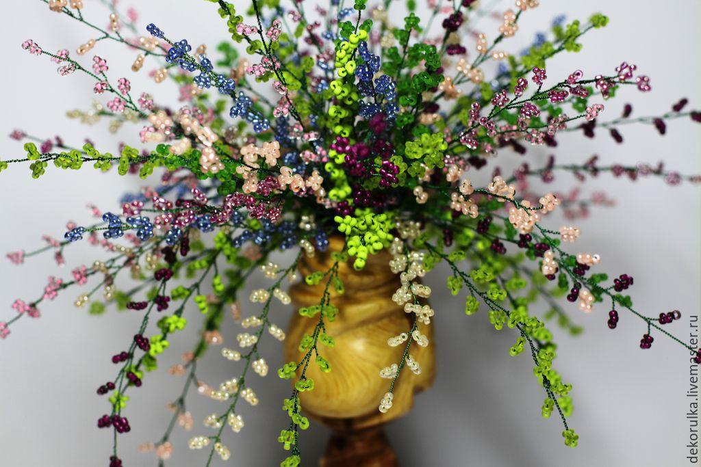 Украшения для букета из бисера, цветы ул. московская