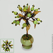 Цветы и флористика handmade. Livemaster - original item Miniature tree of happiness onyx. Handmade.