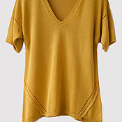 Одежда handmade. Livemaster - original item Tunic knitted from cotton with an openwork border. Handmade.