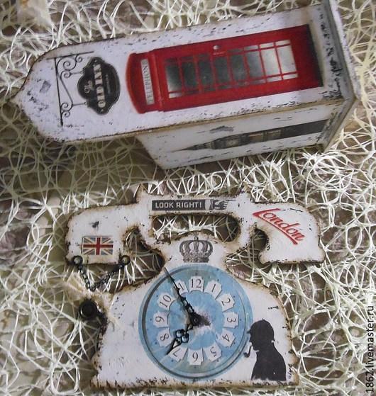 Часы для дома ручной работы. Ярмарка Мастеров - ручная работа. Купить Я уеду жить в Лондон часы и чайный дом. Handmade.