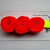 Работы для детей, ручной работы. Ярмарка Мастеров - ручная работа Повязка с цветами из фетра. Handmade.