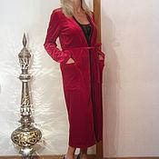 Одежда ручной работы. Ярмарка Мастеров - ручная работа Бархатный халат и кружевная сорочка. Handmade.