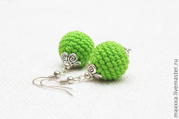 Earrings-beads - any color on order, Earrings, Ryazan, Фото №1