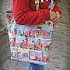 """Женские сумки ручной работы. Ярмарка Мастеров - ручная работа. Купить Сумка """"Комиксы"""". Handmade. Женская сумка, сумка для ноутбука"""