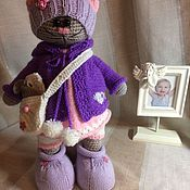Куклы и игрушки ручной работы. Ярмарка Мастеров - ручная работа Киска тильда. Handmade.