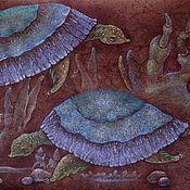Картины и панно ручной работы. Ярмарка Мастеров - ручная работа Дома...  Картина пастелью.  Черепашки. Handmade.