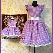 Работы для детей, ручной работы. Ярмарка Мастеров - ручная работа Коплект Family look платья для мамы и дочки. Handmade.