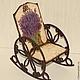Кукольный дом ручной работы. Кресло-качалка Лаванда. Irene Gromi (Teddy Art Boutique). Интернет-магазин Ярмарка Мастеров.