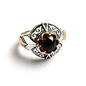 Украшения handmade. Livemaster - original item Silver charisma ring with garnet. Handmade.