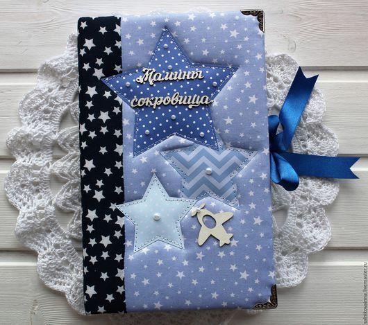 Подарки для новорожденных, ручной работы. Ярмарка Мастеров - ручная работа. Купить Коробочка Мамины сокровища для маленького Звездочета. Handmade. Разноцветный