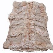 Одежда handmade. Livemaster - original item Women`s vest 62 made of sheepskin and tuscany. Handmade.