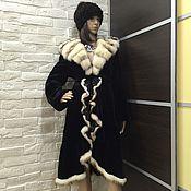 Одежда ручной работы. Ярмарка Мастеров - ручная работа Шуба норковая Королевская с воланом. Handmade.