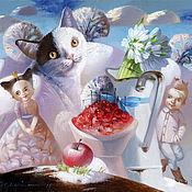 Картины и панно ручной работы. Ярмарка Мастеров - ручная работа Картина Вишня в сахаре. Handmade.