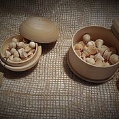 Куклы и игрушки ручной работы. Ярмарка Мастеров - ручная работа Бирюльки в деревянной коробочке. Handmade.