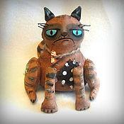 Куклы и игрушки ручной работы. Ярмарка Мастеров - ручная работа Злой кот. Handmade.