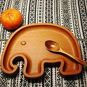 """Тарелки ручной работы. Ярмарка Мастеров - ручная работа Тарелка """"Слоненок"""". Handmade."""