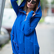Одежда handmade. Livemaster - original item Fashionable, loose tunic with hood - TU0421PM. Handmade.