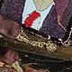 Броши ручной работы. Заказать Брошь-подвес Рене Кислинг. Маргарита Колесниченко(MarKo). Ярмарка Мастеров. Бархат, бисер, лиловый, marko