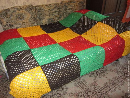 """Текстиль, ковры ручной работы. Ярмарка Мастеров - ручная работа. Купить покрывало """" m & m c """". Handmade."""