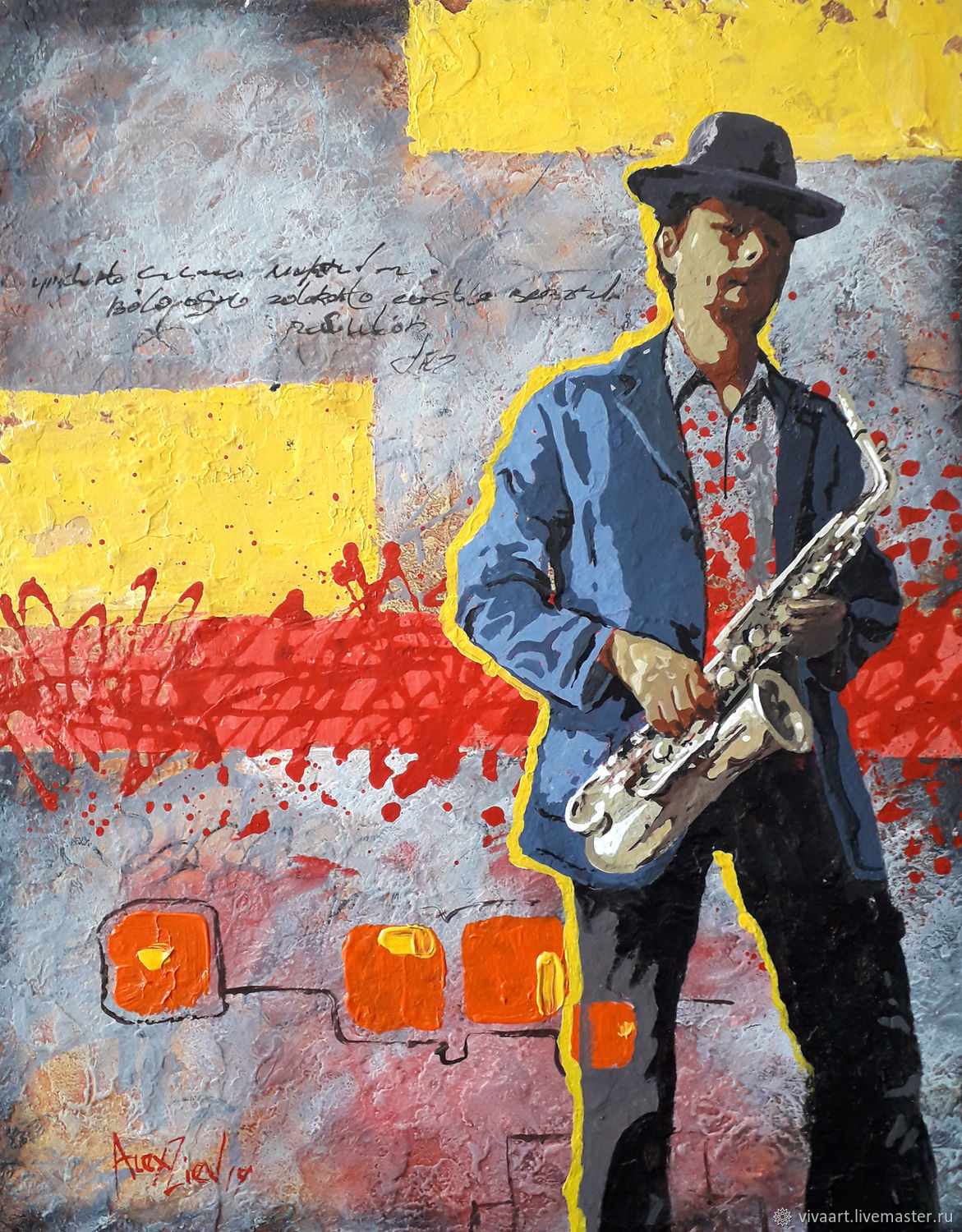 Painting on canvas. Jazz, Pictures, Rubtsovsk,  Фото №1