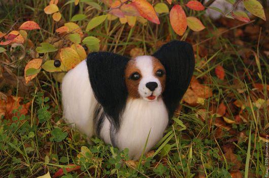 Игрушки животные, ручной работы. Ярмарка Мастеров - ручная работа. Купить Валяная собачка папийон Даниэль. Handmade. Войлочная игрушка