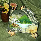 Картины и панно handmade. Livemaster - original item Panels made of natural stone Painting stone. Handmade.