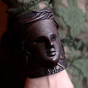 Украшения handmade. Livemaster - original item 3D genuine leather Bracelet