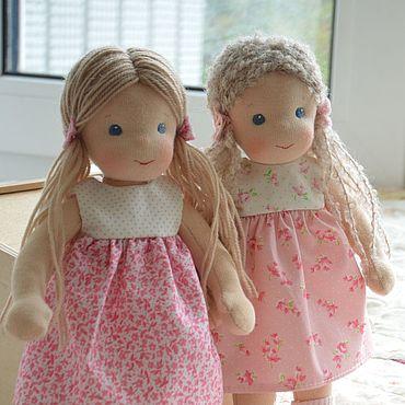 Куклы и игрушки ручной работы. Ярмарка Мастеров - ручная работа Вальдорфская кукла с хвостиками. Handmade.