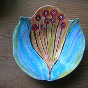 """Тарелки ручной работы. Ярмарка Мастеров - ручная работа Тарелочка """"Цветы Арт-Деко"""". Handmade."""