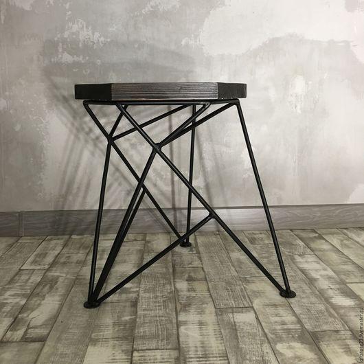 Мебель ручной работы. Ярмарка Мастеров - ручная работа. Купить Табурет SPIKE. Handmade. Черный, дизайнерский стул