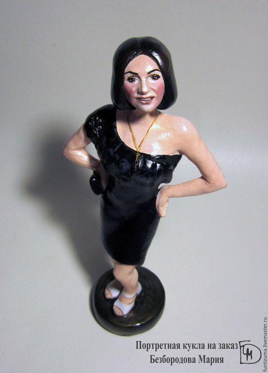 Портретные куклы ручной работы. Ярмарка Мастеров - ручная работа. Купить Девушка в черном. Handmade. Портретная кукла, полимерная глина
