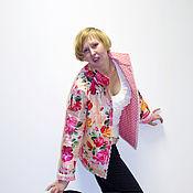 """Одежда ручной работы. Ярмарка Мастеров - ручная работа Двухсторонняя стеганая куртка """"Цветы"""". Handmade."""