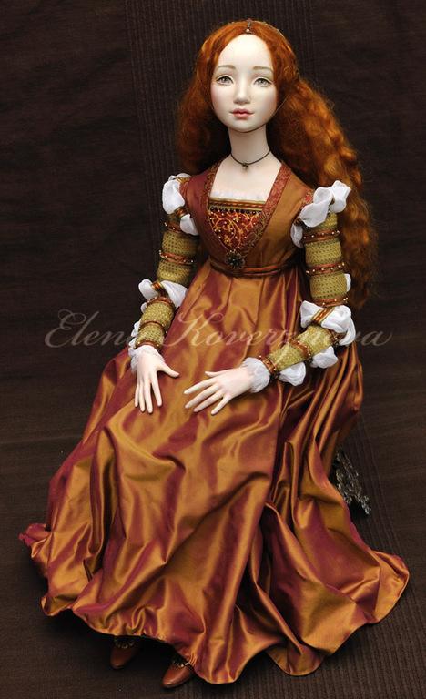 Коллекционные куклы ручной работы. Ярмарка Мастеров - ручная работа. Купить Джульетта авторская кукла из флюмо 45см сидя. Handmade.