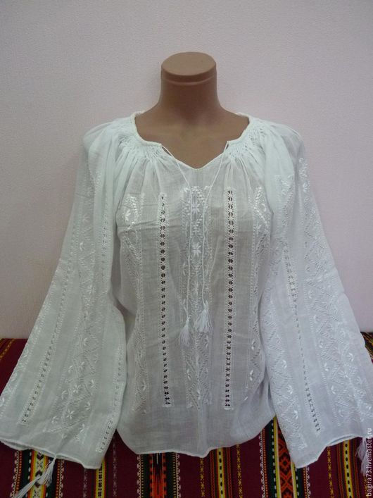 Блузки ручной работы. Ярмарка Мастеров - ручная работа. Купить Летняя блузочка. Handmade. Белый, блузки, блузка из хлопка, Вышиванка