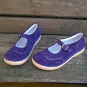 Обувь ручной работы. Ярмарка Мастеров - ручная работа Туфли из нубука Куда уходит детство... фиолетовые. Handmade.