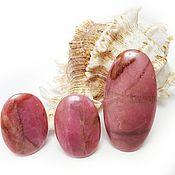 Материалы для творчества handmade. Livemaster - original item Three cabochons of rhodonite. Handmade.