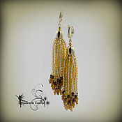 Украшения handmade. Livemaster - original item Bead earrings-long