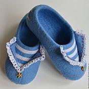 """Обувь ручной работы. Ярмарка Мастеров - ручная работа тапочки """"морская романтика"""". Handmade."""