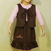 Работы для детей, ручной работы. Ярмарка Мастеров - ручная работа Жилет и юбка для девочки. Handmade.