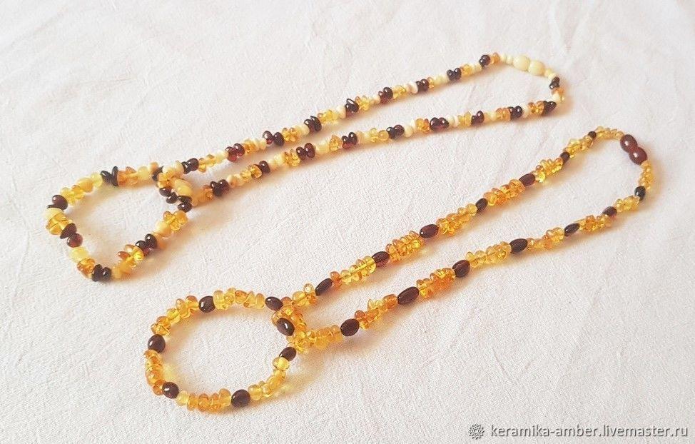 089171f405b3d Buy Amber beads baby bracelet 39 cm Necklaces & Beads handmade. Amber beads  baby bracelet 39 cm baby Gift, girl.