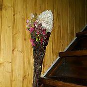Декоративный рог-конверт из еловой коры