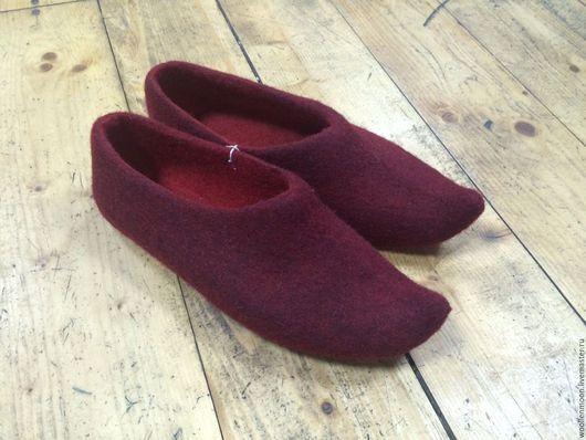 Обувь ручной работы. Ярмарка Мастеров - ручная работа. Купить Тапочки цветные. Handmade. Комбинированный, тапочки домашние, войлок
